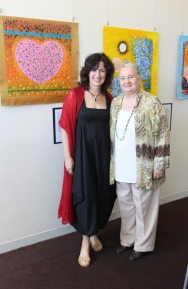 Gillian Scaduto MIND Australia Facilitator - Art Therapy & Creative Writing with Karen Robinson at 'Reflections Carer Group Exhibition' Northcote Town-hall, Melbourne Australia 2015 NB Images protected by copyright