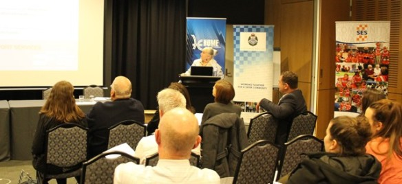 Karen Robinson presenting on RTSSV & Personal Road Trauma Story - Hume City Council Road Safety Forum at Craigieburn 27.5.2015 NB All images are protected by copyright laws.JPG