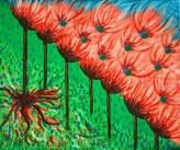 """Painting No. 1 - Title """"Growth"""" by Karen Robinson Abstract Artist 2008 NB: All images are protected by copyright laws!"""