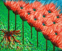 "Painting No. 1 - Title ""Growth"" by Karen Robinson Abstract Artist 2008 NB: All images are protected by copyright laws!"