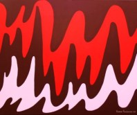 """Painting No. 10 - Title """"Brain Wave"""" by Abstract Artist Karen Robinson - 2008 NB: All images are protected by copyright laws!"""