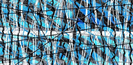"Abstract Digital Photo Painting No. 10B ""Melbourne Show - Candy Poles"" 2009 by Abstract Artist: Karen Robinson"