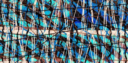 "Abstract Digital Photo Painting No. 10B ""Melbourne Show - Candy Poles"" 2009 by Abstract Artist: Karen Robinson NB: All images are protected by copyright laws!"