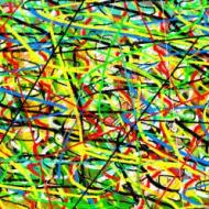 "Abstract Digital Photo Painting No. 11A ""Melbourne Show - Fun Ride"" 2009 by Abstract Artist: Karen Robinson NB: All images are protected by copyright laws!"