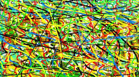 """Abstract Digital Photo Painting No. 11A """"Melbourne Show - Fun Ride"""" 2009 by Abstract Artist: Karen Robinson"""