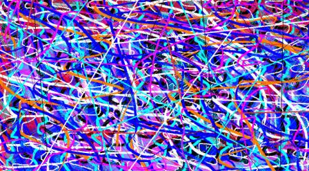"""Abstract Digital Photo Painting No. 11B """"Melbourne Show - Fun Ride"""" 2009 by Abstract Artist: Karen Robinson"""