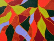"""Painting No. 13 - Title """"My Garden"""" by Abstract Artist Karen Robinson - 2008 NB: All images are protected by copyright laws!"""