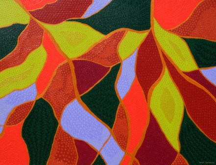 "Painting No. 13 - Title ""My Garden"" by Abstract Artist Karen Robinson - 2008"