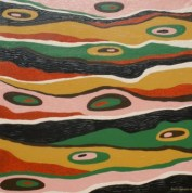"Painting No. 14 - Title ""Australia"" by Abstract Artist Karen Robinson - 2008 NB: All images are protected by copyright laws!"