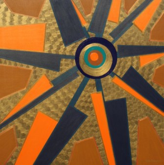 "Painting No. 15 - Title ""Blade Wheel"" by Abstract Artist Karen Robinson - 2008"