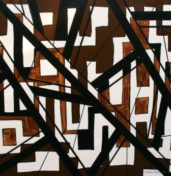 """Painting No. 16 - Title """"Uncontrolled Maze"""" by Abstract Artist Karen Robinson 2008 NB: All images are protected by copyright laws!"""