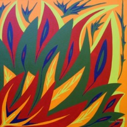 """Painting No. 17 - Title """"Alive"""" by Abstract Artist Karen Robinson - 2008 NB: All images are protected by copyright laws!"""