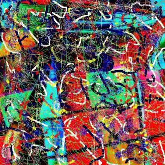 """Abstract Digital Photo Painting No. 1A - Title """"Derby Day - Tartan Skirt"""" 2008 by Abstract Artist: Karen Robinson"""