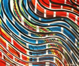 """Painting No. 2 - Title """"Inner City"""" by Abstract Artist Karen Robinson - 2008 NB: All images are protected by copyright laws!"""