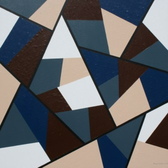 "Painting No. 1 - Title ""Confines"" by Abstract Artist Karen Robinson - 2008"