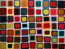 """Painting No. 25 - Title """"Belgravia Work Place"""" by Abstract Artist Karen Robinson - 2008 NB: All images are protected by copyright laws!"""