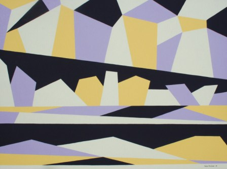 "Painting No. 29 - Title ""Arctic Pole Flat Lining"" by Abstract Artist Karen Robinson - 2008"