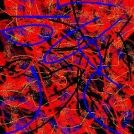 "Abstract Digital Photo Painting No. 2A - ""Derby Day - Spotted Dress"" 2008 by Abstract Artist: Karen Robinson NB: All images are protected by copyright laws!"