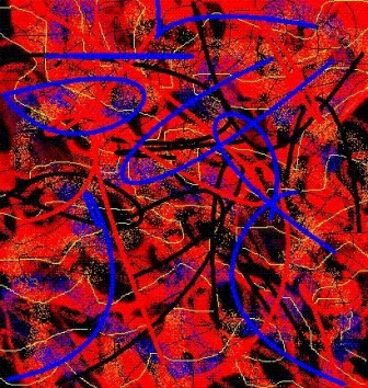 """Abstract Digital Photo Painting No. 2A - """"Derby Day - Spotted Dress"""" 2008 by Abstract Artist: Karen Robinson"""