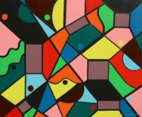 """Painting No. 3 - Title """"Piece of Mind"""" by Abstract Artist Karen Robinson NB: All images are protected by copyright laws!"""