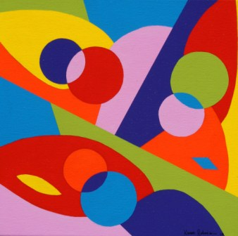 """Painting No. 40 - Title """"Mark's Soul"""" by Abstract Artist Karen Robinson - 2010"""