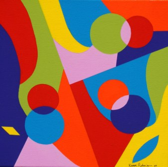 """Painting No. 41 - Title """"Ben's Soul"""" by Abstract Artist Karen Robinson - 2010"""