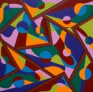 """Painting No. 43 - Title """"Life's a Washing Machine' by Abstract Artist Karen Robinson - 2010 All images are protected by copyright laws!"""