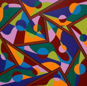 """Painting No. 43 - Title """"Life's a Washing Machine' by Abstract Artist Karen Robinson - 2010"""