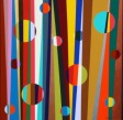 """Painting No. 45A - Title """"The Life of Our Son Ben"""" by Abstract Artist Karen Robinson - 2010 All images are protected by copyright laws!"""