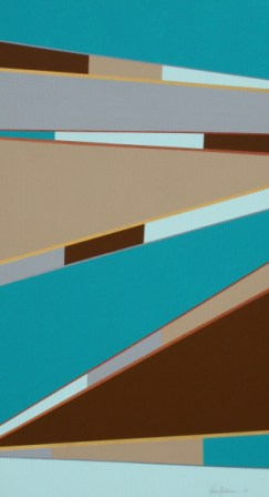 "Painting No. 47A - Title ""Road to a New Life"" by Abstract Artist Karen Robinson - 2010"