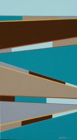 "Painting No. 47B - Title ""Road to a New Life"" by Abstract Artist Karen Robinson - 2010"