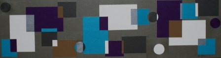 "Painting No. 48 - Title ""A Quietness & Strength of Life"" by Abstract Artist Karen Robinson - 2010"