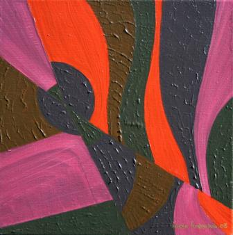 "Painting No. 5 - Title ""Fracture"" by Abstract Artist Karen Robinson - 2008"