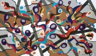 """Painting No. 52 - Title """"I'm Busy"""" by Abstract Artist Karen Robinson - 2011 NB: All images are protected by copyright laws!"""