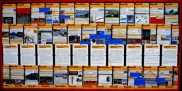 """Collage Art Work No. 54 - Title """"The Notice Board"""" by Abstract Artist Karen Robinson - 2013 NB: All images are protected by copyright laws!"""