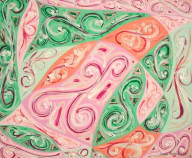 "Painting No. 7 - Title ""Pretty Place"" by Abstract Artist Karen Robinson 2008 NB: All images are protected by copyright laws!"