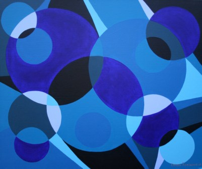 "Painting No. 8 - Title ""Plates"" by Abstract Artist Karen Robinson - 2008"