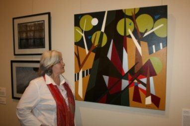 "TAC ""Picture This"" Exhibition 2010 at Geelong Gallery, Victoria - Australia. Featuring Painting No. 45B ""The Death of Our Son Ben"" by Abstract Artist: Karen Robinson (as photographed) NB: All images are protected by copyright laws!"