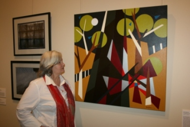 """TAC """"Picture This"""" Exhibition 2010 at Geelong Gallery, Victoria - Australia. Featuring Painting No. 45B """"The Death of Our Son Ben"""" by Abstract Artist: Karen Robinson (as photographed) NB: All images are protected by copyright laws!"""