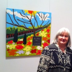 """TAC's """"Picture This"""" Exhibition 2011 at Geelong Gallery. Painting No. 45D Titled 'Rest in Peace Ben"""" by Abstract Artist: Karen Robinson NB: All images are protected by copyright laws!"""