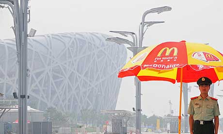 Brown. J.F. (2008, August 8). The Guardian. AFP Getty Images. [Photograph No. brownafp460]. Retrieved May 22 2014 from http://www.theguardian.com/world/2008/aug/07/china.olympics2008