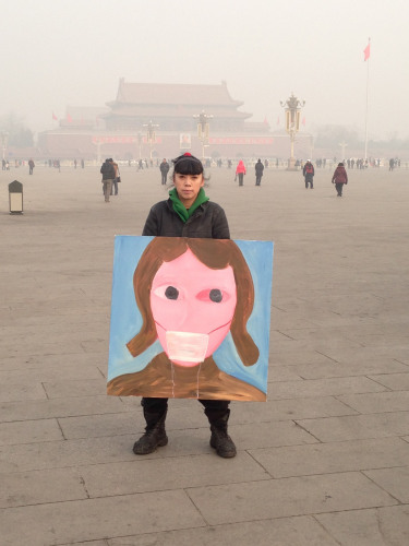 Whelan. L. (May 20 2014). Grist. Artists in China strike blows against the smog. [Photograph ID:  china-piece 1]. Retrieved May 22 1014 from http://grist.org/climate-energy/artists-in-china-strike-blows-against-the-smog/