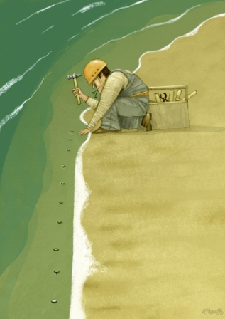 Andrei Popov - Russia - 1st Prize Niels Bugge Cartoon Award 2014