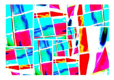 Collage Digital Photo Painting 'Tartan Skirt' by Karen Robinson - Abstract Artist 2008. NB All images are protected by copyright laws!