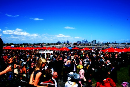 Melbourne Cup 2008 at Flemington Racecourse - Photo taken by Karen Robinson - Abstract Artist NB: All images are protected by copyright laws!