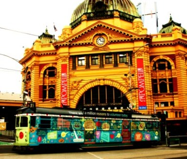 No. 11 - My Melbourne - Flinders Street Station - June 09 Photo taken by Karen Robinson Abstract Artist NB All images are protected by copyright laws!