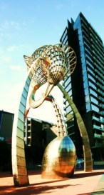 No. 5 - My Melbourne - Work of Art at Docklands - June 09 Photo taken by Karen Robinson Abstract Artist NB All images are protected by copyright laws!