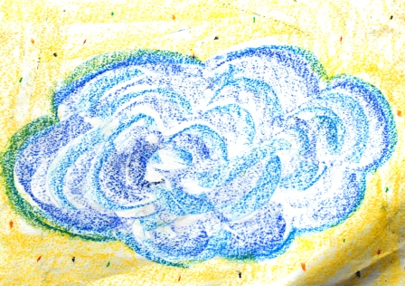Art Therapy Session No. 2-'Create a feeling that you need' by Karen Robinson Materials-crayon on butcher paper August, 7, 2014 photograph by Karen Robinson Images Copyright .JPG