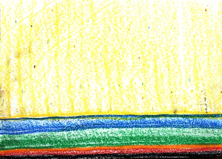 Art Therapy Session No. 2-'How we feel right now!' by Karen Robinson Materials-crayon on butcher paper August 7, 2014 photograph by Karen Robinson Images Copyright .JPG