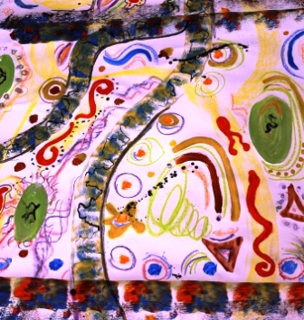 Art Therapy Session No. 4 'Using music to inspire the artist within!' Painting by the Art Therapy Group View 3 of 6 - August 2014 All images protected by copyright laws.JPG